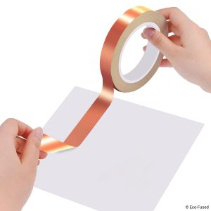 Arts and Crafts Double-Sided Conductive Grounding - EMI and RF Shielding Electrical Repairs Paper Circuits Slug Repellent Premium Adhesive Copper Foil Tape 6.3 mm 0.25 inch Home Interior
